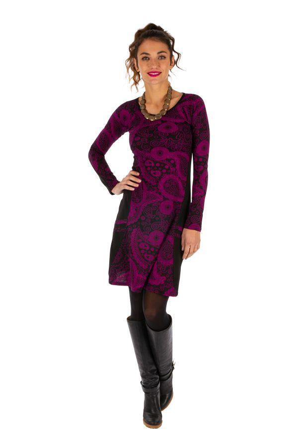 Robe femme d'hiver colorée et très féminine London 312671