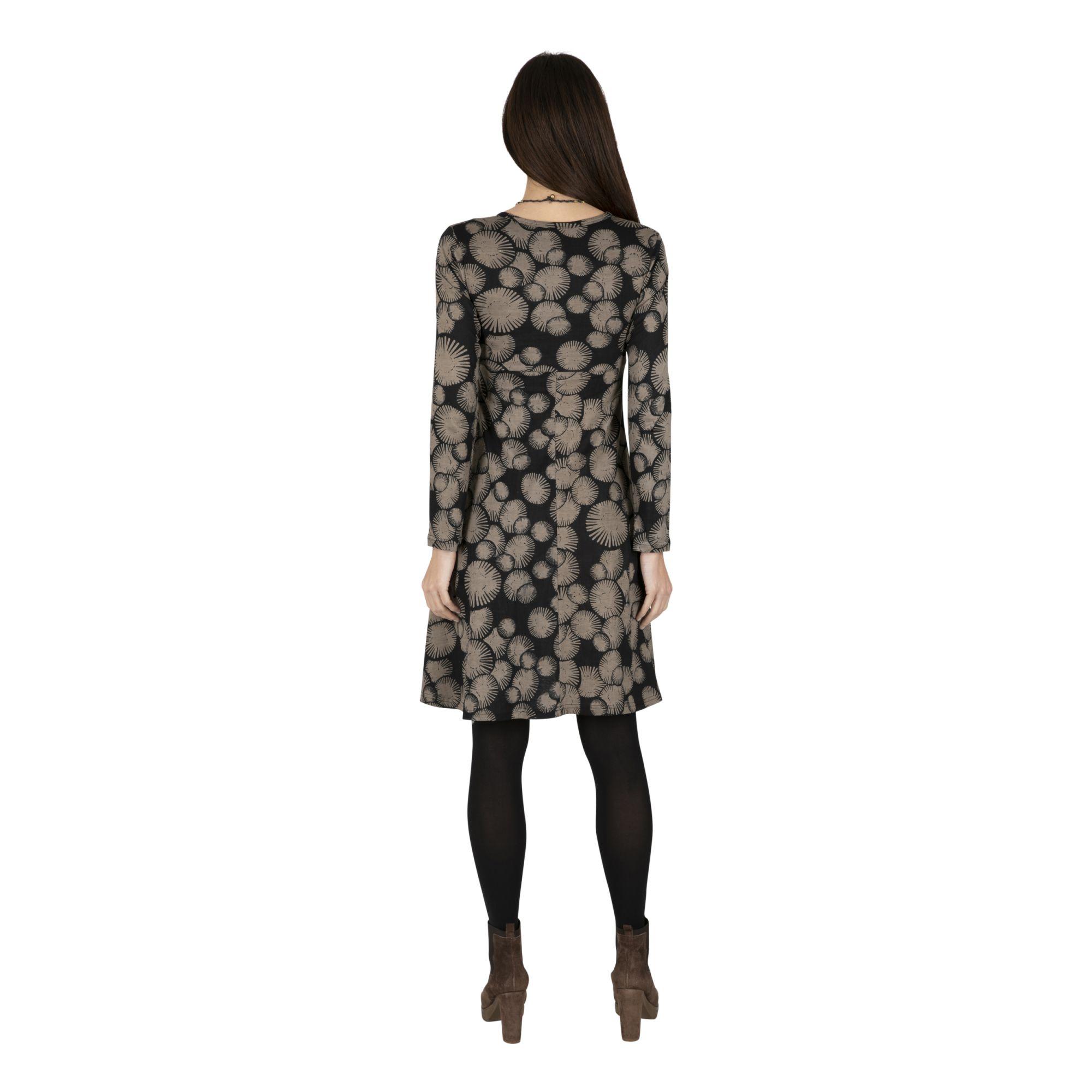 Robe femme de collection hiver à imprimé original Émilie