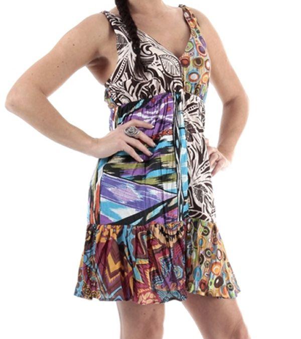 Robe femme été pas cher imprimé coloré Tiffou 314940
