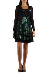 robe femme ethnique chic avec de la dentelle Loumi 304369