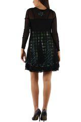 robe femme ethnique chic avec de la dentelle Loumi 304371
