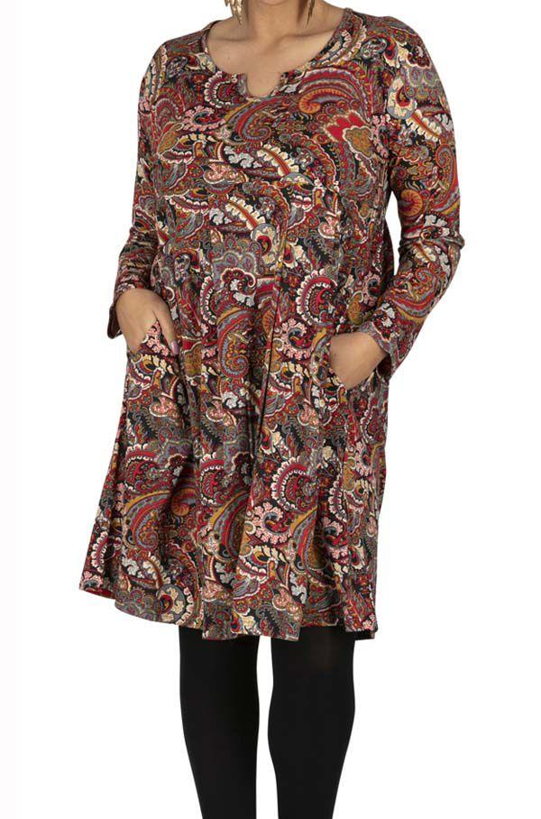 Robe Femme Grande Taille Boheme Coloree Monza