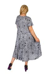 Robe femme grande taille ethnique-chic pour un look urbain Siya 306401