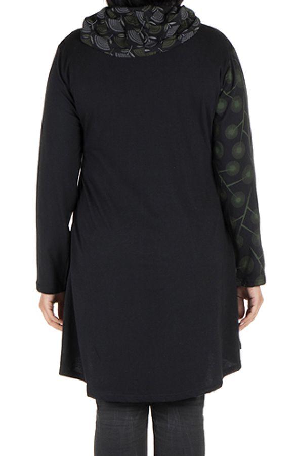 Robe femme grande taille ethnique et original à panneaux brodés Crolyn 302185