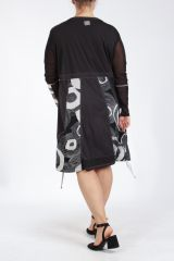 Robe femme grande taille noire originale et chic Pops