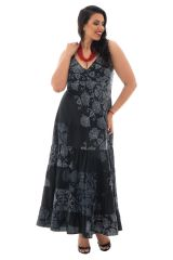 Robe femme grande taille Originale Vincenta Noire et Blanche 293941