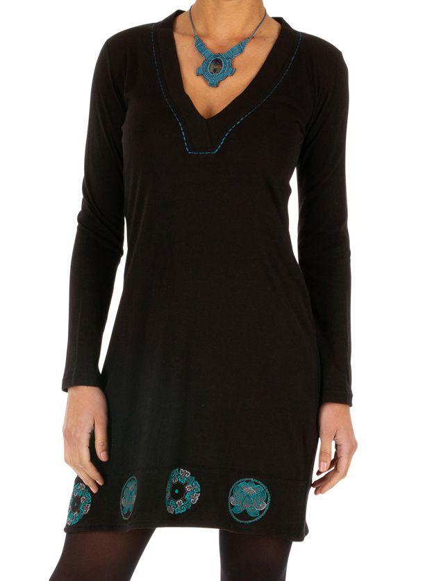 Robe femme habillée manches longues pas cher Monia 313252