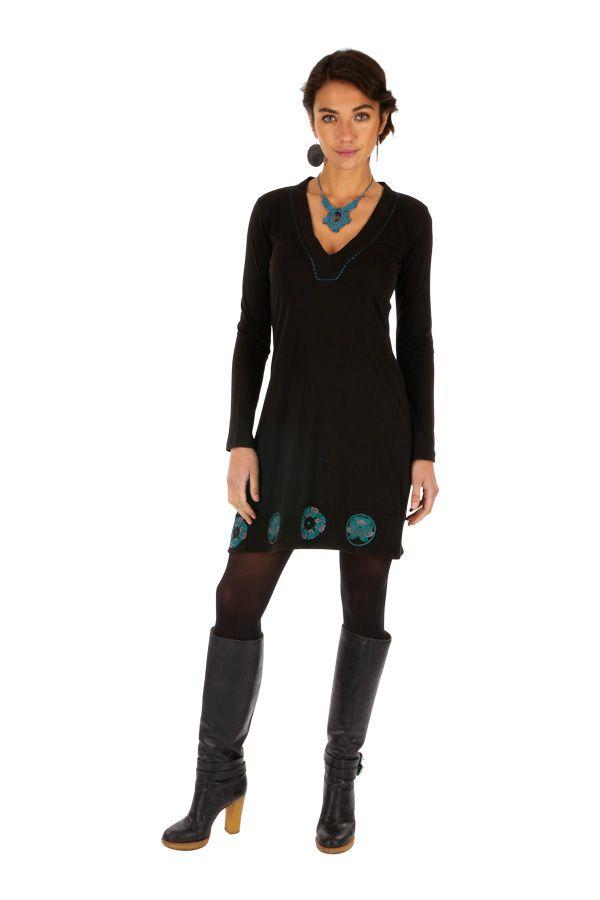 Robe femme habillée manches longues pas cher Monia 313253