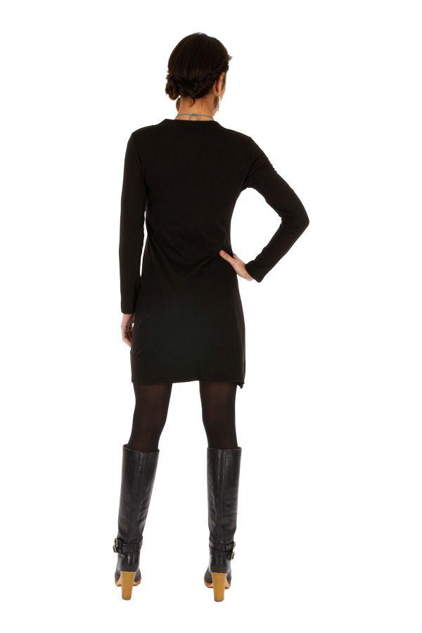 Robe femme habillée manches longues pas cher Monia 313254