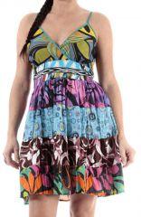 Robe femme imprimé ethnique coton originale colorée Tiff 314932