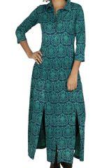Robe femme longue bohème originale au bas ample Cuenco