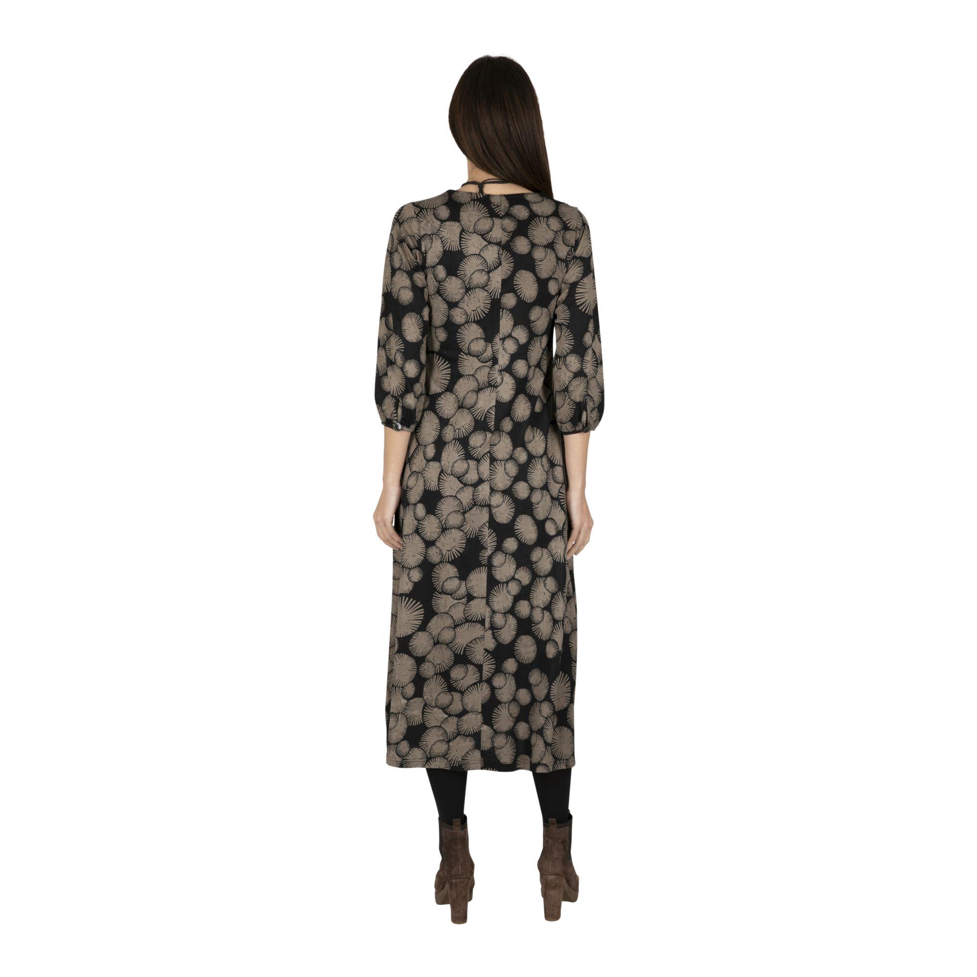 Robe femme longue noire ethnique et originale Machaly