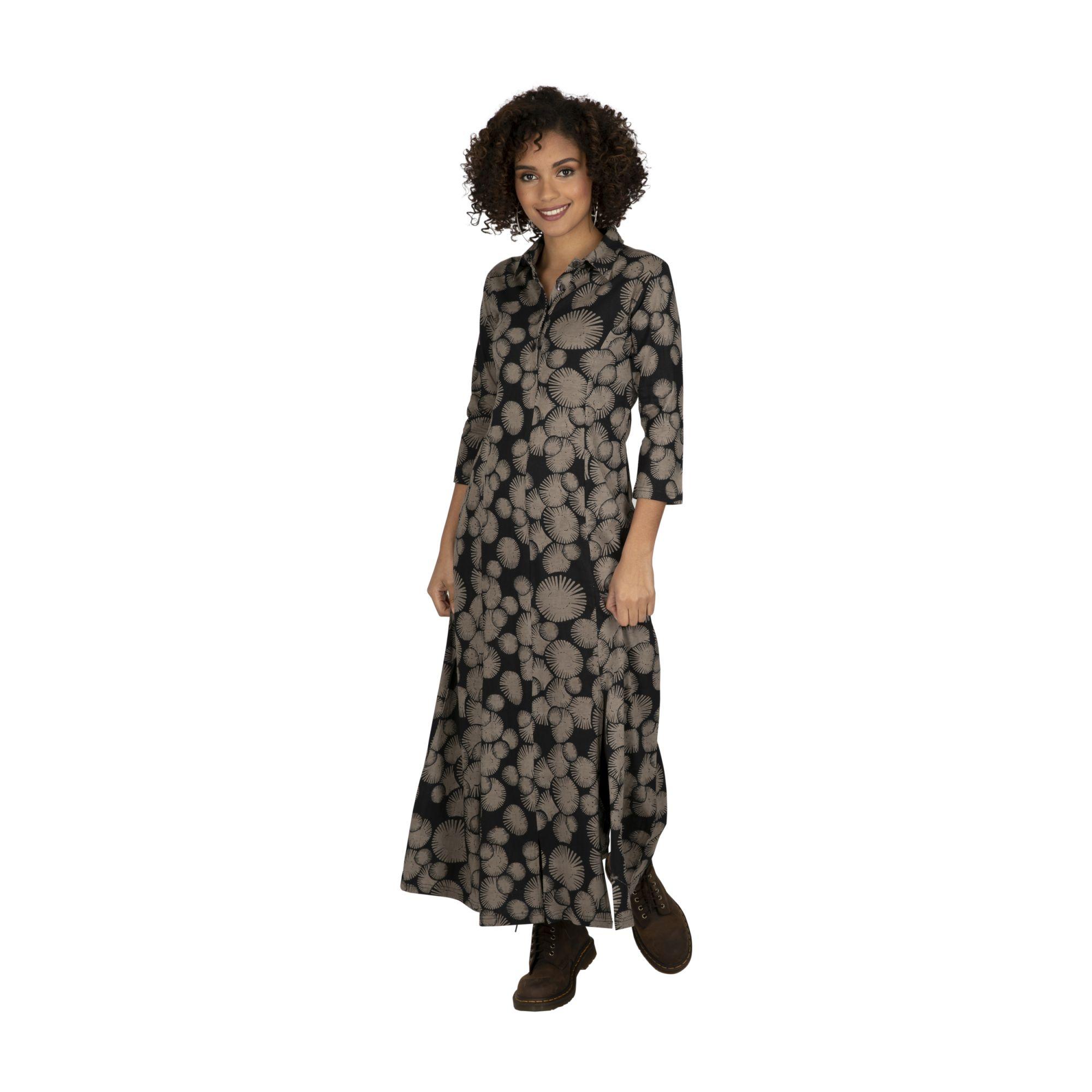 Robe femme longue noire habillée et pas chère Cuencel