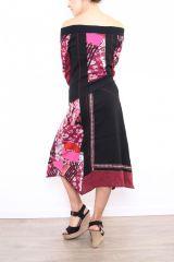Robe femme longue originale et colorée Lilou rose 302776
