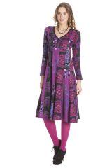 Robe femme mi- longue avec des imprimés originaux Lee 285464
