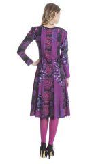 Robe femme mi- longue avec des imprimés originaux Lee 285465