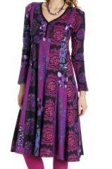 Robe femme mi- longue avec des imprimés originaux Lee 286622