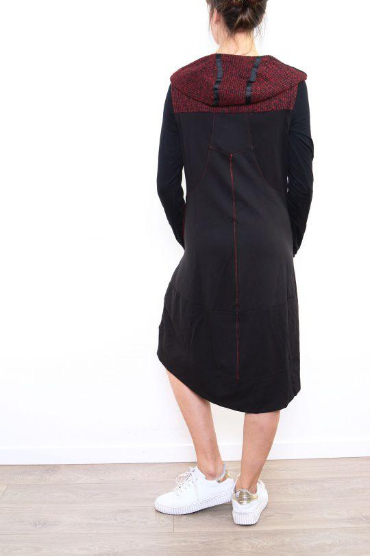 Robe femme mi longue avec une capuche baba Victoria 302662