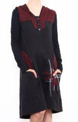 Robe femme mi-longue avec une capuche Victoria 302659