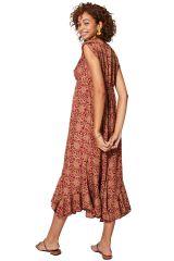 Robe femme mi-longue pour l\'été fluide en polyester Jacqueline