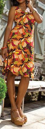 Robe femme mi-longue pour un été en couleur Lucine 1 271786