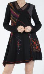 Robe femme noire fantaisie à manches longues Medley 304815