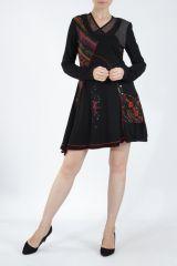 Robe femme noire fantaisie à manches longues Medley 304816