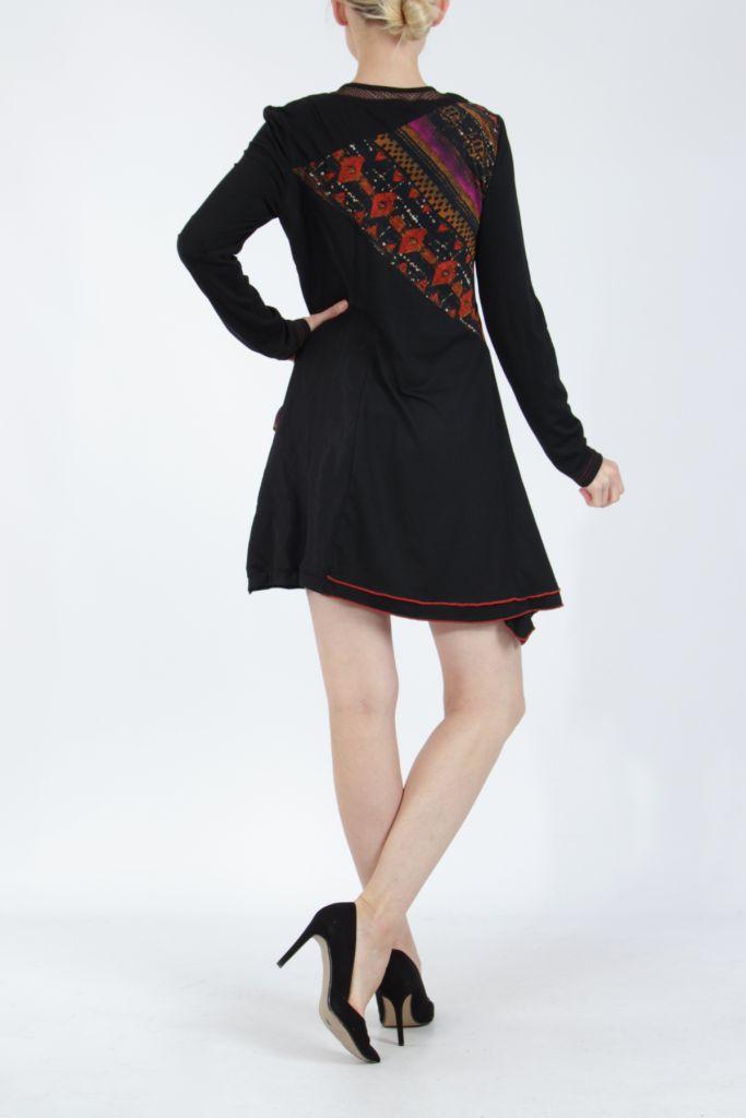 Robe femme noire fantaisie à manches longues Medley 304819