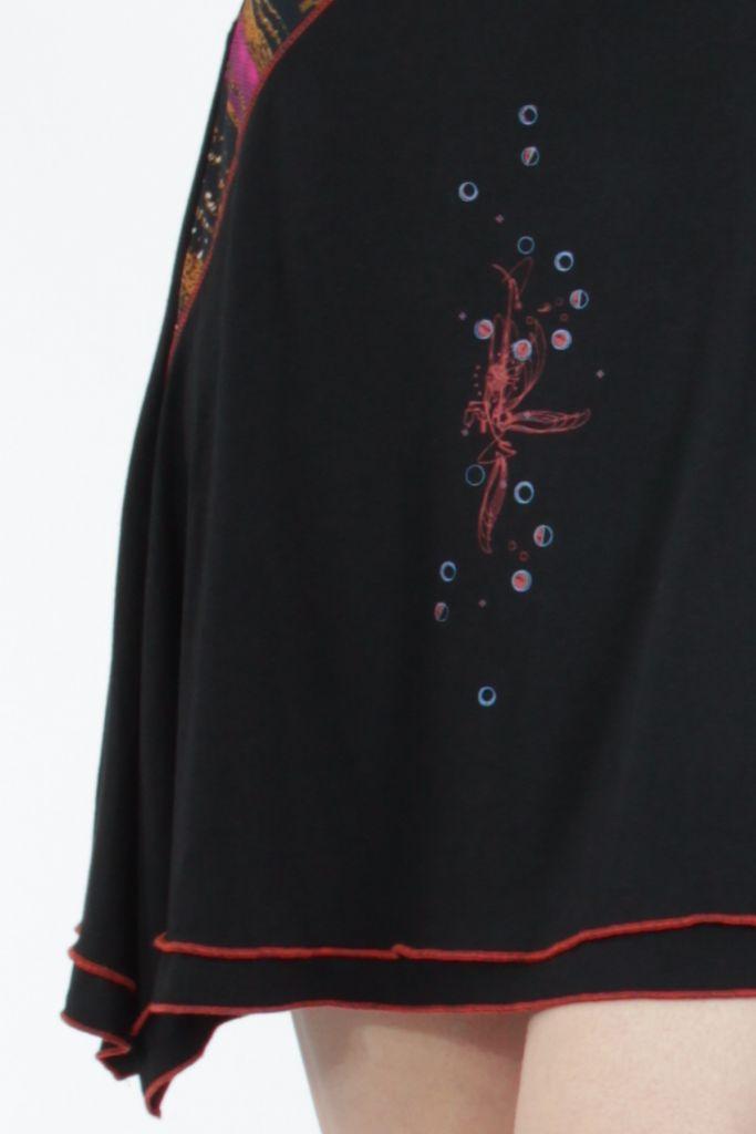 Robe femme noire fantaisie à manches longues Medley 304820