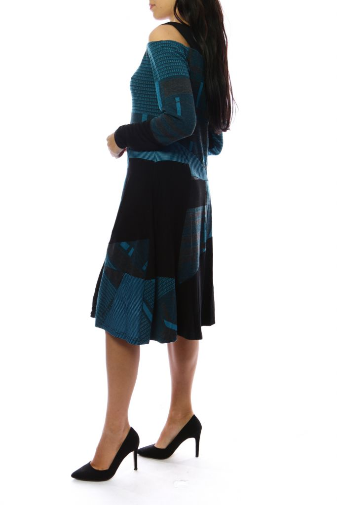 Robe femme originale et épaisse pour l'hiver Lili Bleu 303118
