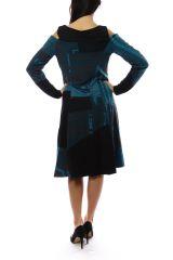 Robe femme originale et épaisse pour l\'hiver Lili Bleu