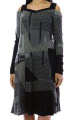 Robe femme originale et épaisse pour l'hiver Lili Gris 303120