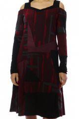 Robe femme originale et épaisse pour l'hiver Lili Rouge 303111