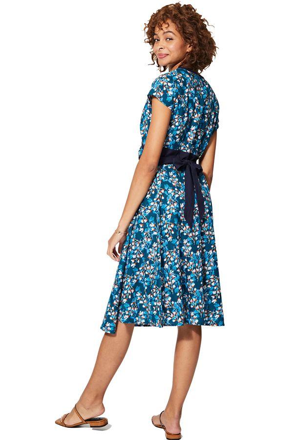 Robe femme portefeuille en coton imprimé bohème fleurs chic Ingerid