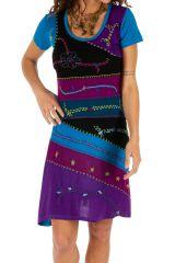 Robe femme pour l'été colorée et pas chère Awasa bleue 314233