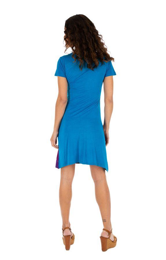 Robe femme pour l'été colorée et pas chère Awasa bleue 314235