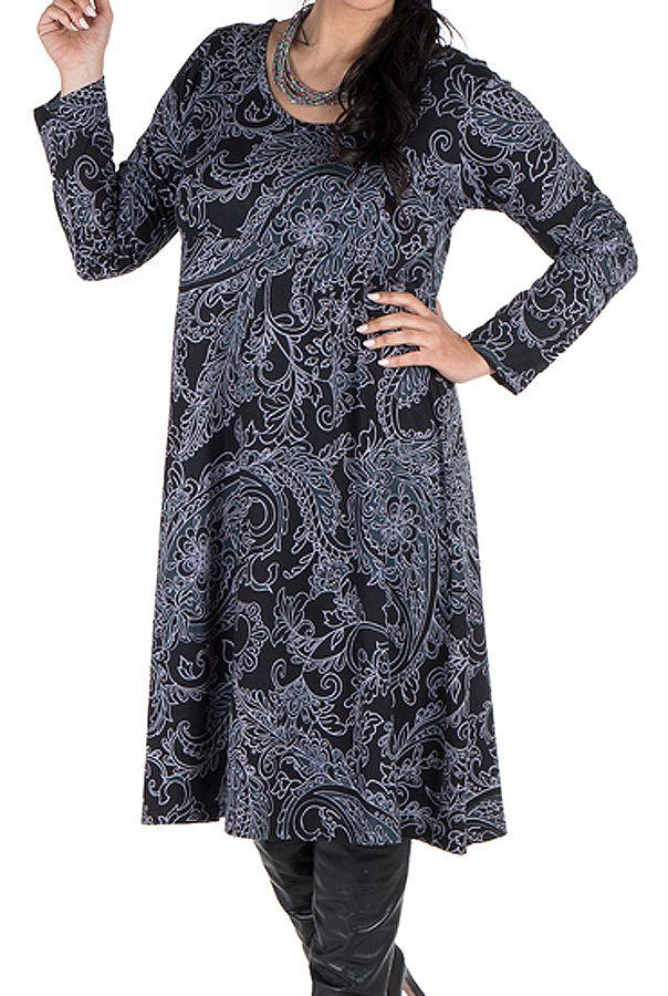 Robe femme réveillon imprimée baroque original 300613