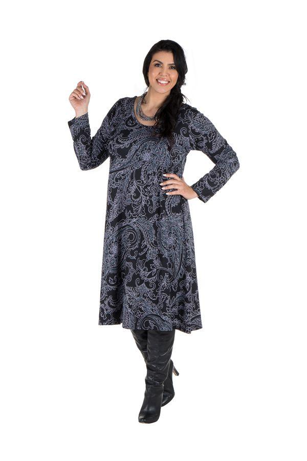 Robe femme réveillon imprimée baroque original 300614
