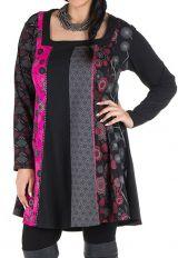 Robe femme ronde à col carré et imprimé originaux ethniques Lolita 302147
