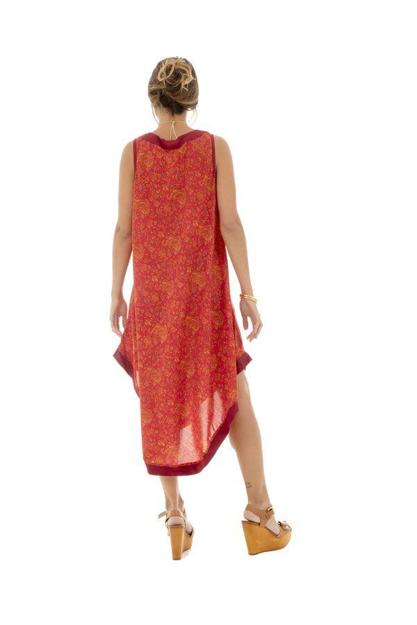 robe festive mi-longue avec col v et coupe asymétrique Rana 289848