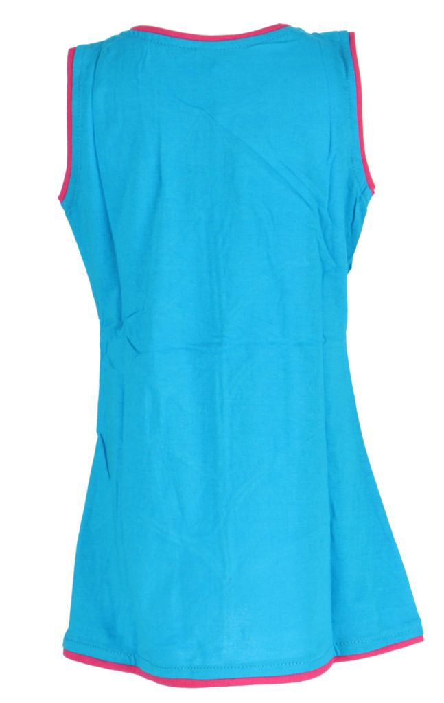 Robe fille bleue motif fleur Carla 268661