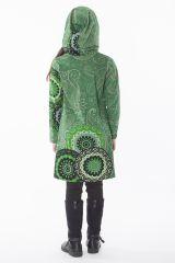 Robe fille verte effet tunique avec imprimés Myrtille 286538