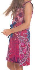 Robe Fillette très Originale Lady Réversible Bleue ou Rose 280113