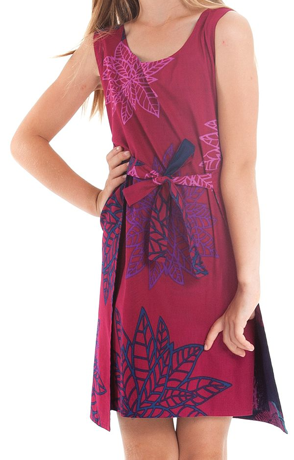 Robe Fillette très Originale Lady Réversible Fushia ou Indigo 280117