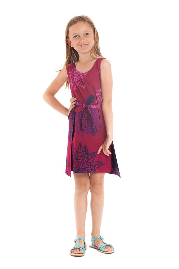 Robe Fillette très Originale Lady Réversible Fushia ou Indigo 280119