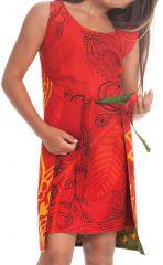 Robe Fillette très Originale Lady Verte ou Rouge Réversible 280120