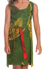 Robe Fillette très Originale Lady Verte ou Rouge Réversible 280121