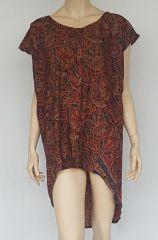 Robe fluide asymétrique avec imprimés originaux Loulou 302359