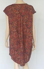 Robe fluide asymétrique avec imprimés originaux Loulou 302360