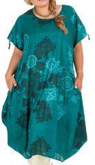 Robe fluide en coton pour femme grande taille Kadia 306988